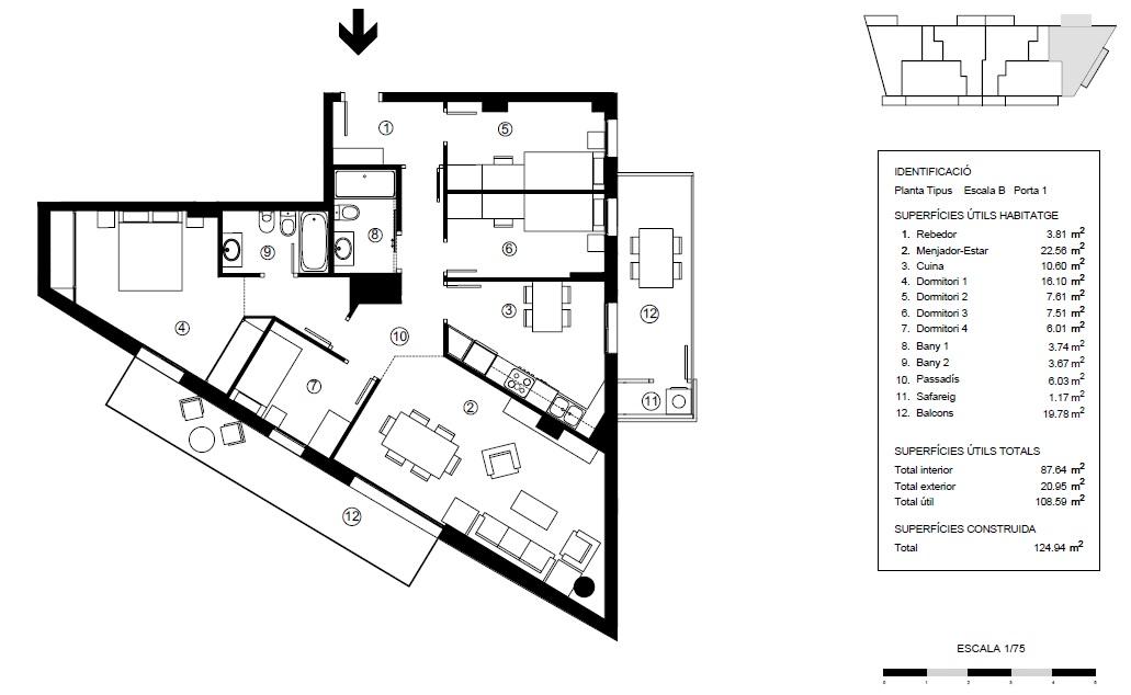 Tipo 1 B:  ¡Último piso a la venta!